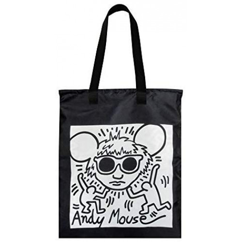 ECOBAG LOQI KEITH HARING ANDY MOUSE & UNTITLED DUO BACKPACK